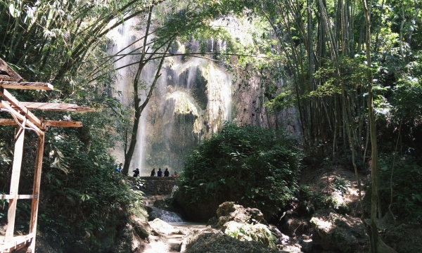 The view of Tumalog falls from afar